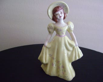 Vintage Southern Belle Lady Figurine