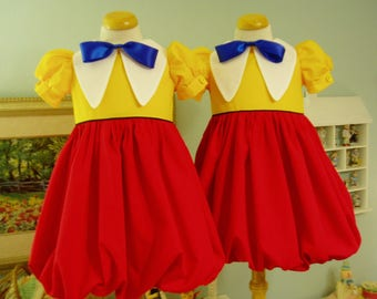 Tweedle Dee & Tweedle Dum Dresses, I will make from Size 12mo-Size 5, this is a Custom Order