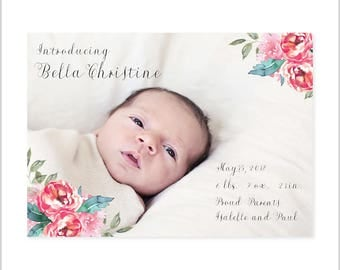 Bella Christine Birth Announcement