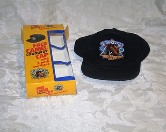 Vintage 1990 Camel Cigarettes JOE CAMEL Unworn Corduroy Hat in Original Packaging!  Taken Out of Package for Picture Only!  MINT Advertising