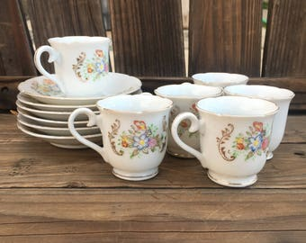 Vintage Japan Children's Tea Cups and Saucers