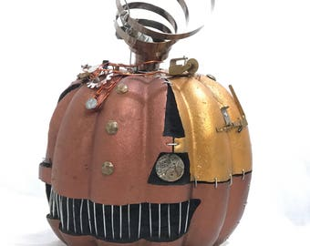 Large Steampunk Clockwork Halloween Pumpkin