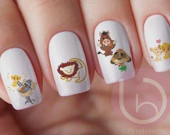 Lion King Nail Decal, Nail Art, Simba Nail Decal, Nila Nail Decal