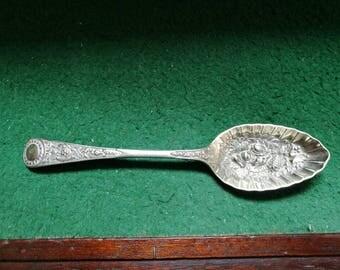 ベリー スプーン 果物の浮き彫り Berry spoon EPNS
