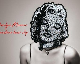 Marilyn Monroe rhinestone hair clip