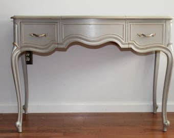 SOLD *****French Light Grey DREXEL Vanity/Desk/Accent Table