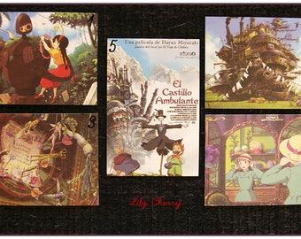 "Mini Card ghibli totoro spirited away, ponyo mononoke arrietty kiki Asian ""model 5"" x 1"