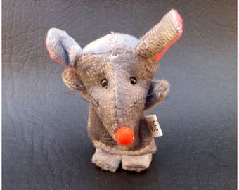 Small stuffed mouse x 1 animal finger puppets