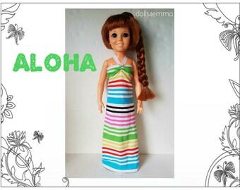 """Vintage Ideal 18"""" CRISSY & Brandi Doll Clothes - ALOHA Tropical Summer Dress - Handmade Custom Fashion - by dolls4emma"""