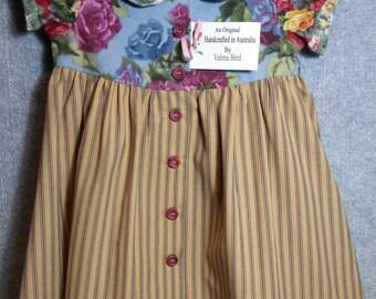 Little girls old-fashioned dress.