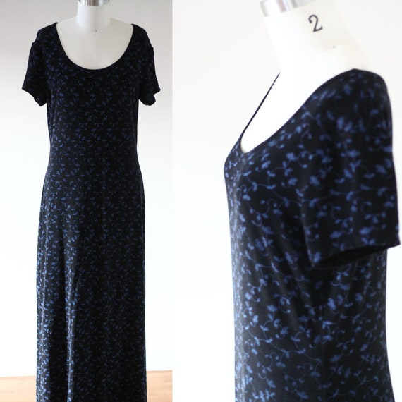 1990s floral maxi dress // 1990s blossom dress // vintage dress