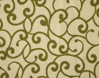 PRE-Order, Green Swirls, Knitting Bag, Crochet, Knit, Yarn, Wool, Yarn Storage, Yarn Bag with Hole, Grommet, Handle