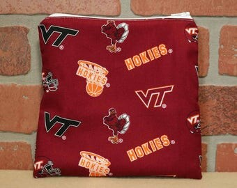One Sandwich Bag, Reusable Lunch Bags, Waste-Free Lunch, Machine Washable, Virginia Tech, Sandwich Sacks, item #SS76
