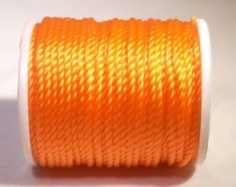 Spool of thread nylon 1 mm x 10 metres of orange