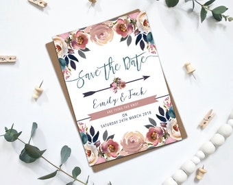PRINTABLE Wedding Save the Dates - Layla Collection