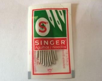 PACKAGE OF 10 NEEDLES SINGER HAS 70 MACHINE SEW / 9