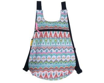 Fabric backpack, woman backpack, bohemian backpack