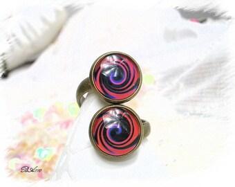 double spiral bronze Adjustable ring * BA110