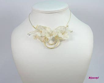 Wedding set * hydrangea * ivory and Gold - 2 pieces