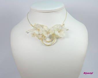 Wedding set * hydrangea * ivory and Gold - 2 pieces