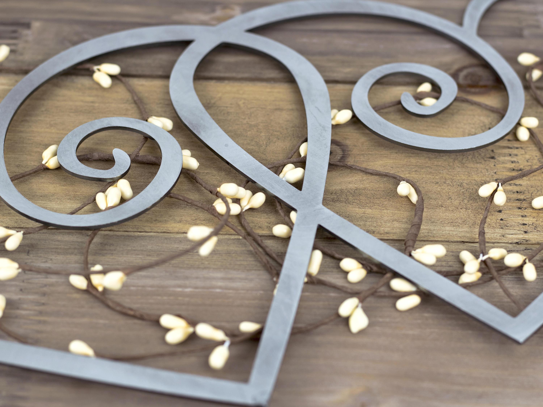 Hearts Metal Wall Art | Wedding Gift | Wedding Decor | Metal Sign ...