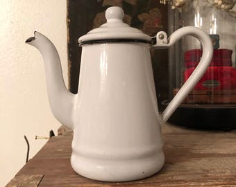 Childs enamelware coffee pot