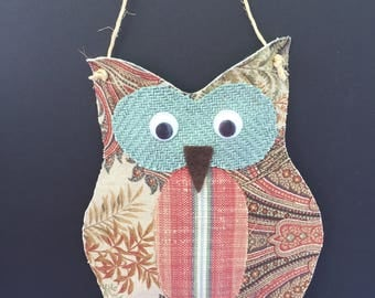 Fabric Owl Wallhanging