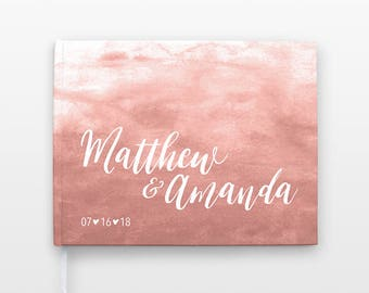Blush Pink Wedding Guest Book, Watercolor Wedding Guestbook, Romantic Wedding Guest Book Idea, Blush Wedding Guest Book, Guest Sign In Book