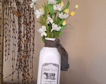 Farmhouse decor, milk jar,
