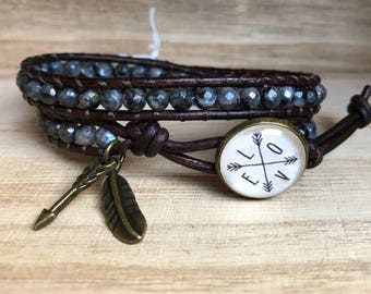 LOVE Arrows Double Wrap Bracelet, Laborite Bracelet