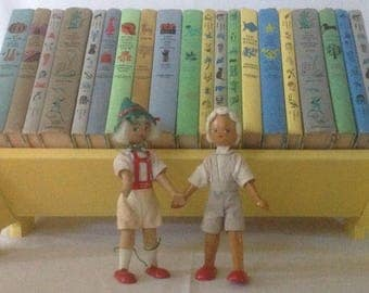 Instant Collection, Vintage Yellow Shelf, Best in Children's Books, Colorful Covers, Classic Bed Time Stories