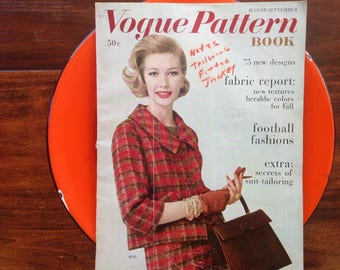 Vogue Pattern Book, August September 1959, MCM, Fashion, Style, Great Photos, Illustrations,