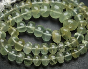 6 Inches Strand,SUPERB-FINEST Quality,Light Yellow Aquamarine Smooth Polished Rondells,8-10mm
