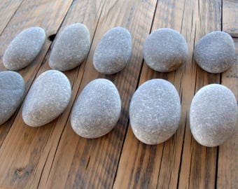 "10 Large Oval Stones 3.3""x2.3"",Beach Stones,Sea Stones,Egg Shaped Stones,Zen Stones,Mandala Stones,Stones For Painting,Crafting Stones,RTS"