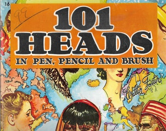 101 Heads in Pen Pencil and Brush