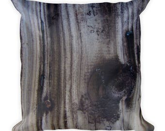 Wood Textured Throw Pillow