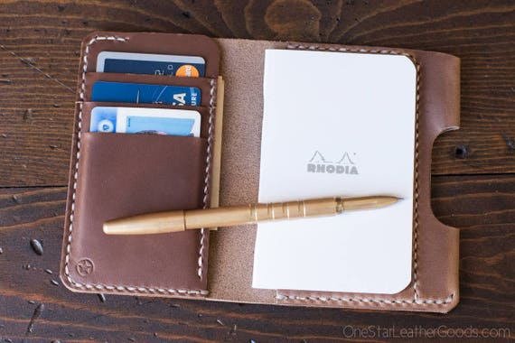 "Notebook wallet ""Park Sloper Medium"" - Horween natural Chromexcel leather"