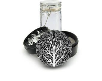 Gay Lesbian Symbol Laser Engraved Grinder Plus FREE Glass Jar included! 4 Piece Premium Black CNC Herb Grinder  L0286