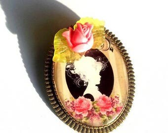 "Brooch ""little marquise rose"" cabochon"