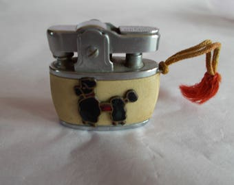 Vintage Tiny Miniature Auer Championette Deluxe Poodle Lighter //48