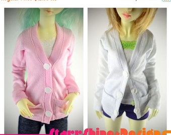Thank You Sale 25% Off BJD MSD 1/4 Doll clothing - Cardigan - 20 Colors