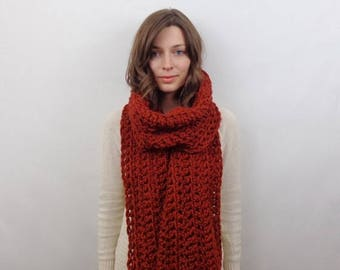 SALE Giant Chunky Knit Scarf Wool | THE ATHENS