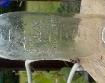 Old baby bottle Rex Nurser glass baby bottle vintage baby bottle  collectible 8 ounce baby bottle rare glass bottle