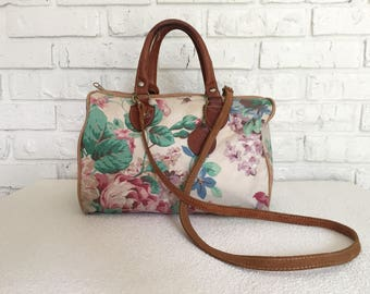 Vintage Floral Top Handle Shoulderbag