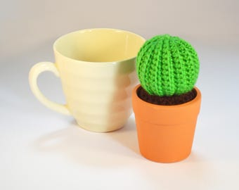 Crocheted Amigurumi Cactus small single