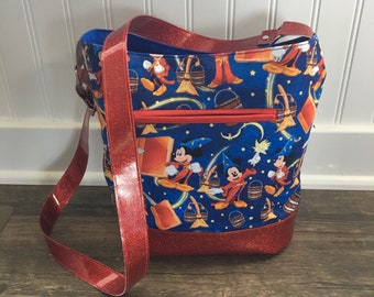 Sorcerer Mickey • Crossbody Purse - Zipper Closure