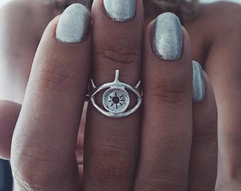 eye ring,silver ring,dainty ring,silver ring,stacking ring,midi ring,evil eye ring,thin ring,gift for her,boho ring,silver925 ring,thin ring