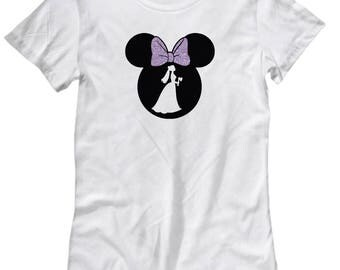 Disney Minnie Mouse Haunted Mansion Shirt for Women Gift Bride Ghosts Disneyland Fan