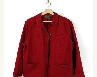 ON SALE Women's Red Denim Jacket/Coat from 90's*