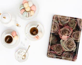 Rose Rustique with Rose Gold Detailing Vinyl Skin for the iPad Air 2, iPad mini 4 , iPad Pro - Platinum Edition